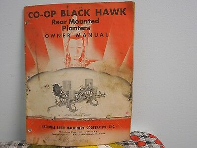 1951 Co-Op Black Hawk Rear Mounted Planters Owner Manual Dirty But Readable