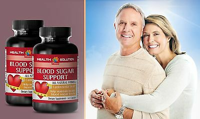 Cardiovascular - BLOOD SUGAR SUPPORT - Dietary Supplement 2 Bottles 120 Caps