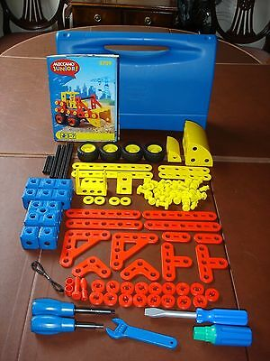 Meccano Junior No 5759 Plastic Set With Carry Case, Instruction Book & Poster