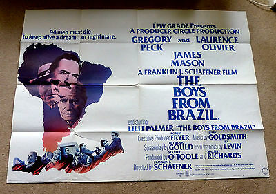 The Boys From Brazil - Gregory Peck  - Original Quad Film Poster