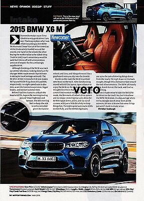 BMW X6 M 2015 print ad magazine art clipping advertisement car automobile report