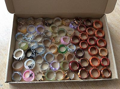 Job Lot Of 50+ NEW Items Of Fashion Jewellery MIXED RINGS New 230617-03