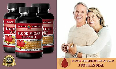 Cardiovascular - BLOOD SUGAR SUPPORT - Dietary Supplement 3 Bottles 180 Caps