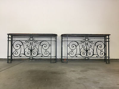 19th century wrought iron console - Pair!