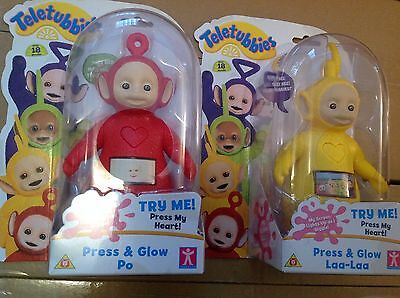 New Teletubbies Press and Glow Po and Laa Laa