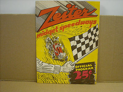 Vintage Original 1940's Zeiter Midget Speedways Official Program