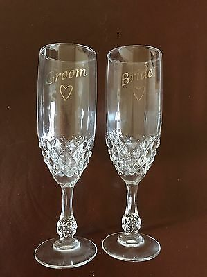 Bride And Groom Glasses. Wedding Gift