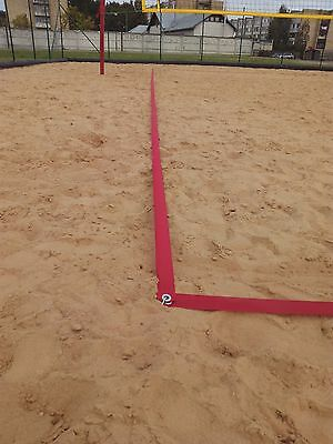 Beach volleyball court trainig lines.