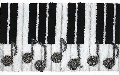 Musical Keyboard Latch Hook Rug Kit - Rug Making - Everything included 52 X 38