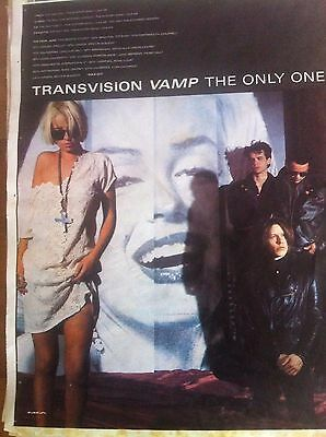 TRANSVISION VAMP - THE ONLY ONE & TOUR DATES - FULL PAGE ADVERT small poster