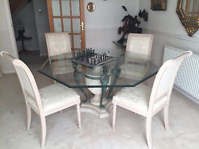 Italian Designer Dinning Table by Artedi - Glass Top