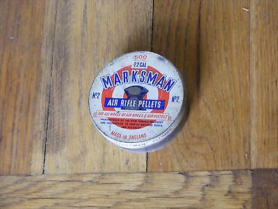 Vintage / Antique Marksman Air Rifle Pellets Tin