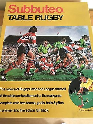 Vintage Subbuteo Table Rugby Complete