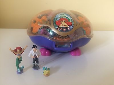 Disney Polly Pocket Ariel The Little Mermaid Compact Complete With Figures