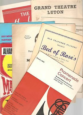 THEATRE  PROGRAMMES  - Lot of 8 from the 50's & 60's -Theatre Programmes