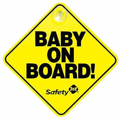 """""""Baby on Board"""" Yellow Car Sign Window Suction Cup Safety 1st 48918 - New Sealed"""