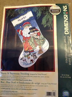 dimensions christmas stocking cross stitch kit new
