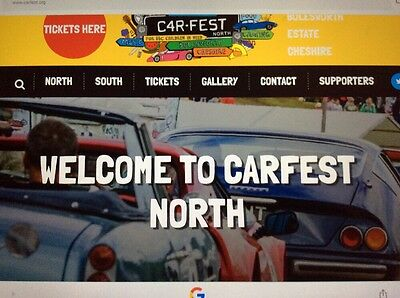 Car Fest North Family Ticket With Camping (2adults +1 child)
