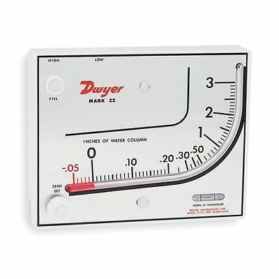 Dwyer Instruments Mark II Series 25 Inclined Vertical Molded Plastic Manometer