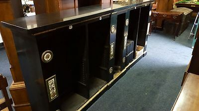 Marble Topped Edwardian Open Bookcase