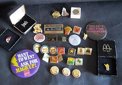 McDonalds & Hardees Pin Collection Lot - Including Rare 10k Gold Filled  Pin
