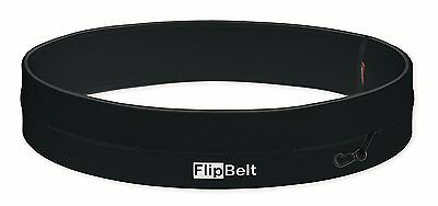 FlipBelt Running/Workout/Fitness Belt w/ Pockets for Phone/Keys, Black, New