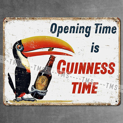 Guinness Vintage Style Metal Bar Sign Beer Plaque Tin Garage Pub Man Cave