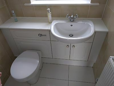 Bathroom Suite - Toilet, Sink, Taps and Units