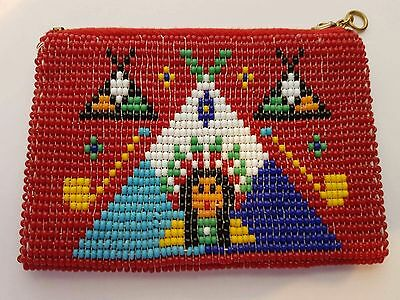 Vintage Native American Design Beaded Purse.