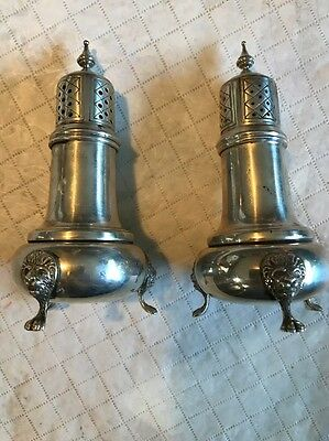 Nice Sterling Silver Lions Foot Salt And Pepper Shaker