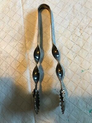 Sterling Silver Ice Tongs Handmade Antique