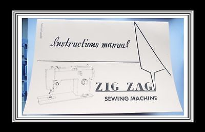 JONES BROTHER model 152 ZigZag sewing machine instructions Manual Booklet