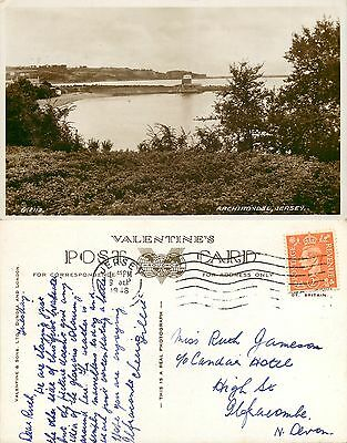 s11071 Archirondel, Jersey RP postcard posted 1948 stamp