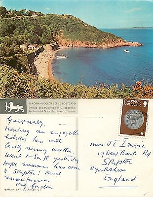 s11076 Fermain Bay, Guernsey postcard posted 1979 stamp