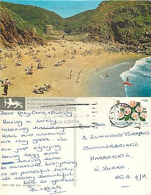 s11077 Petit Boy Bay, Guernsey postcard posted 1993 stamp