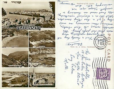 s11081 Multiview, Guernsey RP postcard posted 1966 stamp