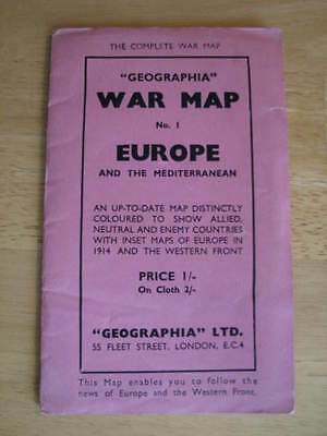 War Map Number One - Europe and the Mediterranean