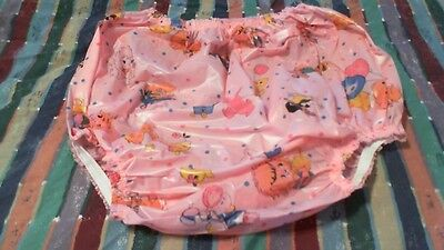 ADULT XLARGE PINK PLASTIC ( NEW YEAR SALE ) PANTIES  for your big baby