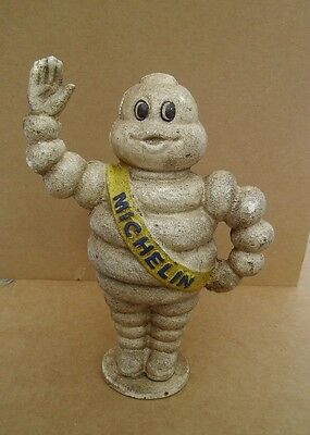 Michelin Man Tire Man Bank Cast Iron Savings Bank 9""