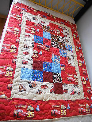 Hand Made Cars Quilt - Lap Size - 100% Cotton