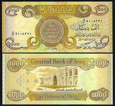 100,000 New Crisp Iraqi Dinar UNC, 100 x 1,000 (1000) in a lot/bundle/pack!!