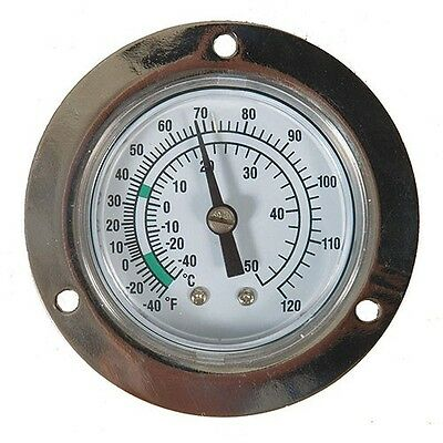 DAYTON ANALOG PANEL MOUNT THERMOMETER  -40 to 120F  (NIB) (1EPF1)