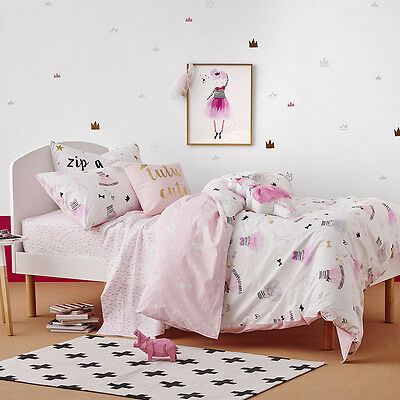 Adairs Kids Tutu Cute Pink Double Quilt Cover Set - RRP $139.00