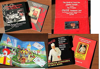 The World Of Coca-Cola Collection - Phonecard // 4 Mint  Folders