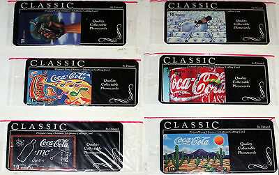 mint coca-cola phone cards Comtel International / Datatel  cell wrapped carrier