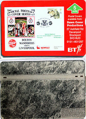 Bt Phone Card Official Football Cover Series Bolton Vs Liverpool  Mint