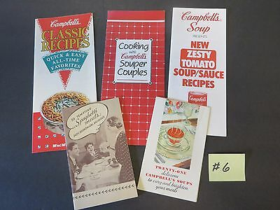 Lot # 6:   5 Vintage Campbell's Soup Company Cookbooks Campbell Kids & More