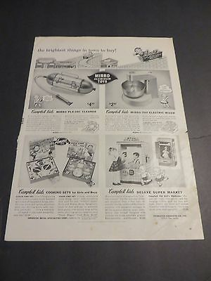 Vintage 1956 Advertisement for Campbell's Soup Licensed CAMPBELL KIDS Toys
