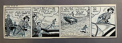 "Ella Cinders Daily strip 3-13-56, Original art by Fred Fox, ""Run Her Down"""