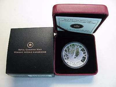 2013 Proof $20 Maple Canopy #1-Spring Canada .9999 silver twenty